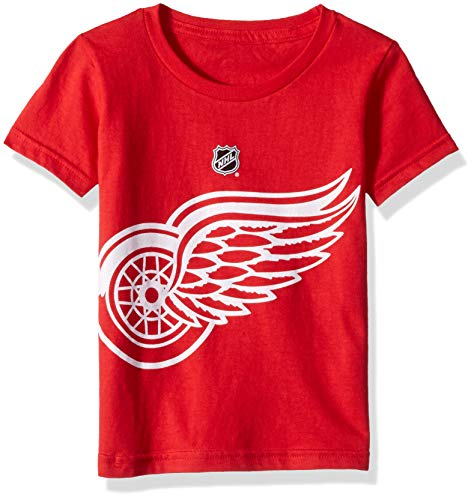 (Outerstuff NHL NHL Detroit Red Wings Toddler Primary Logo Basic Short Sleeve Tee, Red, 2T)
