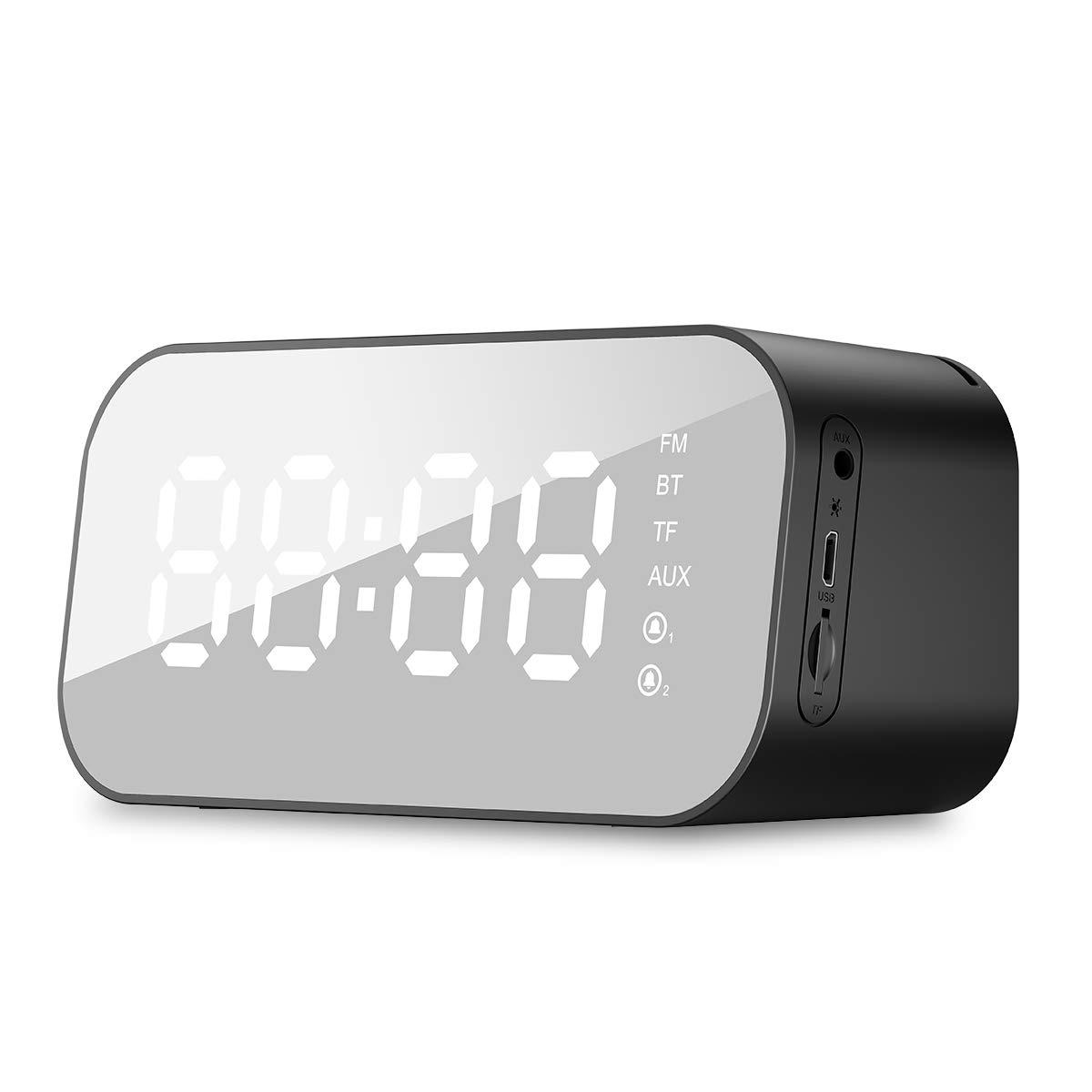 HAVIT Reloj Despertador Digital Altavoz Bluetooth,5.6 Temperatura de Temperatura LED, Alarma Doble, 3 Brillo Puede ser Ajustado, ...