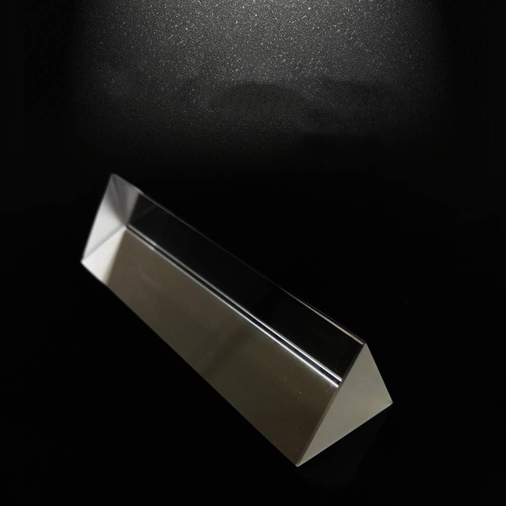 XSM /Éducation exp/érimentale de physique de prisme triangulaire de verre optique l/éger pour Aids10 Cm denseignement de petite enfance