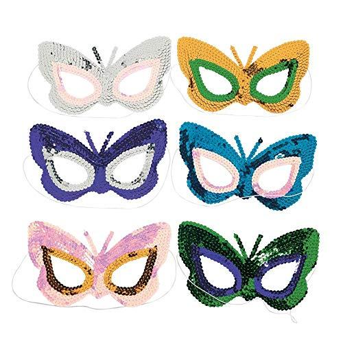 Butterfly Sequin Masks (1 dz)]()