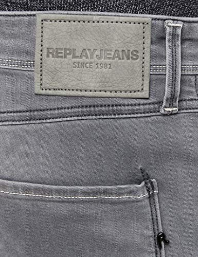 Homme Denim Jean Noir Anbass 9 black Slim Replay 4TPpfqU