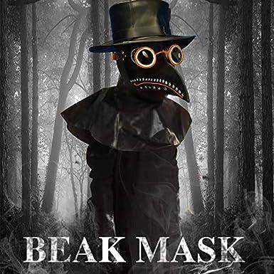 Plague Doctor Mask Long Nose Bird Beak Steampunk Halloween Costume Props Mask