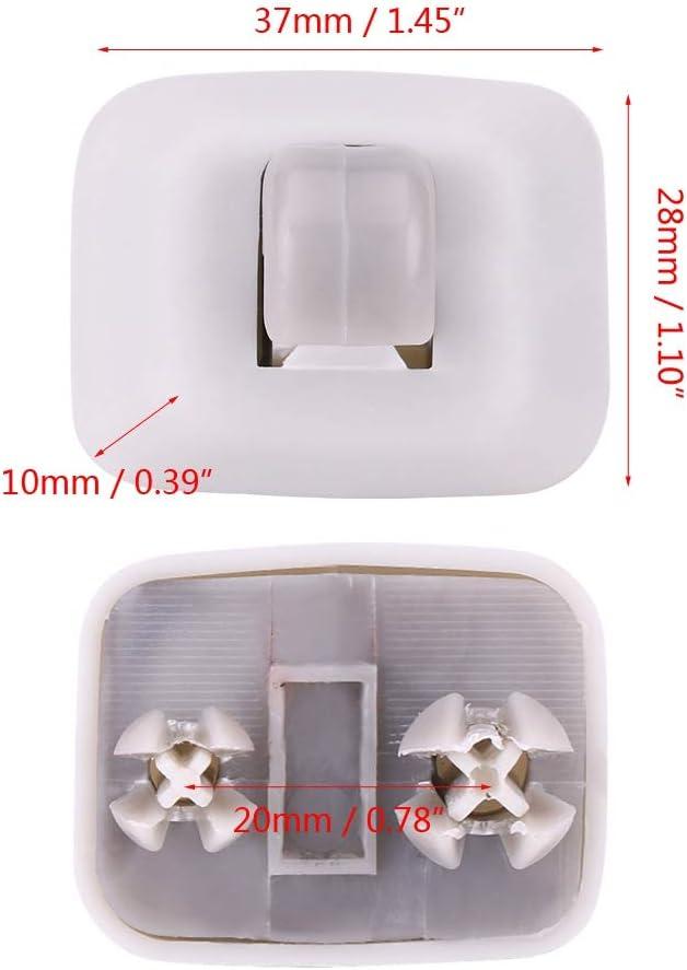 interno argento Clip per gancio per visiera parasole Morsetto di ricambio per A1 A3 A4 S4 A5 S5 Q3 Q5 TT OEM Clip per gancio per visiera parasole 8E0857562A
