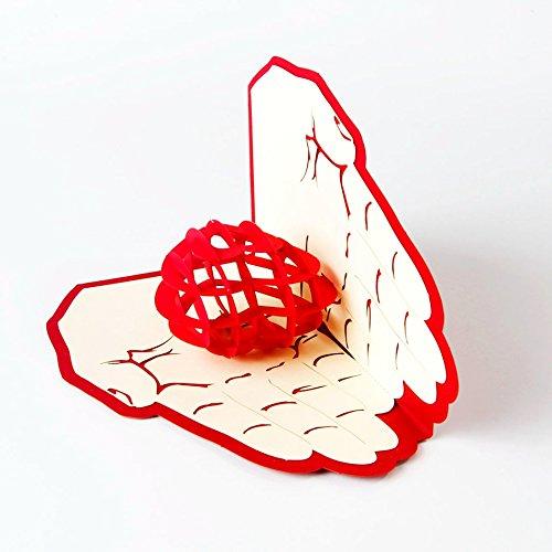 cumplea/ños uniqueplus Give Love Tema 3d Pop Up Kirigami Tarjetas de regalo de felicitaci/ón para aniversario d/ía de la Madre bodas gracias Pareja d/ía del padre