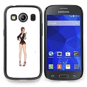 """For Samsung Galaxy Ace Style LTE/ G357 Case , Sexy Legs blanca Bebé Escote Pin Up"""" - Diseño Patrón Teléfono Caso Cubierta Case Bumper Duro Protección Case Cover Funda"""