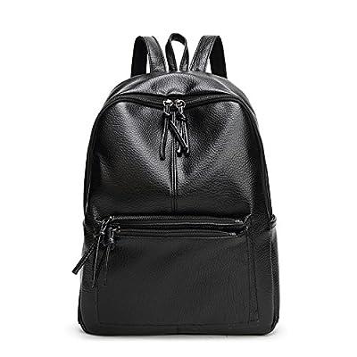 Weizhi Dame à la mode, Nouveau Style sac sac d'épaule, sac de loisirs vent College, Korean Fashion Lady,Black