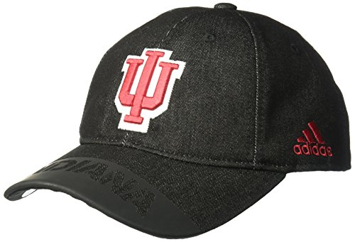 Player Indiana - adidas NCAA Indiana Hoosiers Adult Men Player Heathered Slouch Hat, One Size, Black