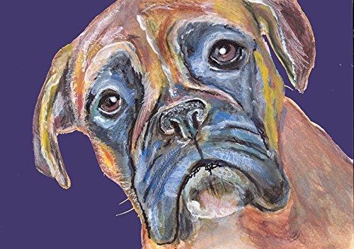 Brindle Boxer Dog Gift, Boxer Dog Art Print, Boxer Mom Art, Dog Abstract Boxer Dog Painting, Boxer Dog Wall - Boxer Brindle Gifts Dog