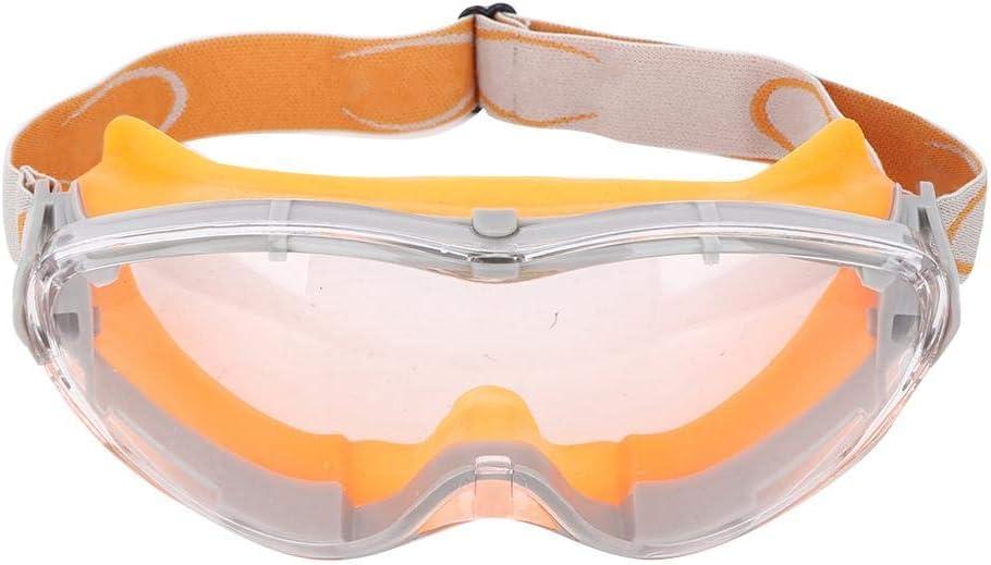 Seacanl Gafas de Bloqueo Anti-Impacto Anti-vaho, Gafas de Seguridad a Prueba de Polvo para PC, Trabajo al Aire Libre para la Industria