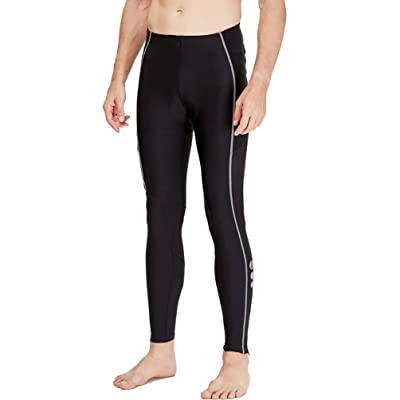 4ucycling Men's Gel Padded Compression Cycling Tights Pants Black