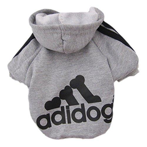Adidog Dog Hoodie Jacket Grey product image