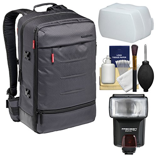 Manfrotto Lifestyle Manhattan Mover-50 Digital SLR Camera Backpack with Flash + Diffuser + Kit -
