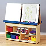 Bird in Hand 271543 4-Person Easel Center with Storage, 49-7/8'' x 13'' x 49-5/8'', Natural Wood Tone