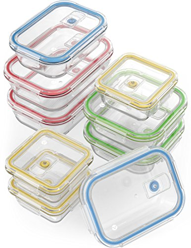 18 Piece Glass Food Storage Containers