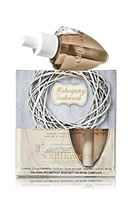 Bath & Body Works Wallflowers Home Fragrance Refill Bulbs 2 Pack Mahogany Teakwood