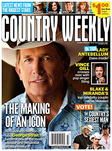 Country Weekly Magazine - Country Weekly Magazine October 24 2011 George Strait Vince Gill Brantley Gilbert Robin Meade