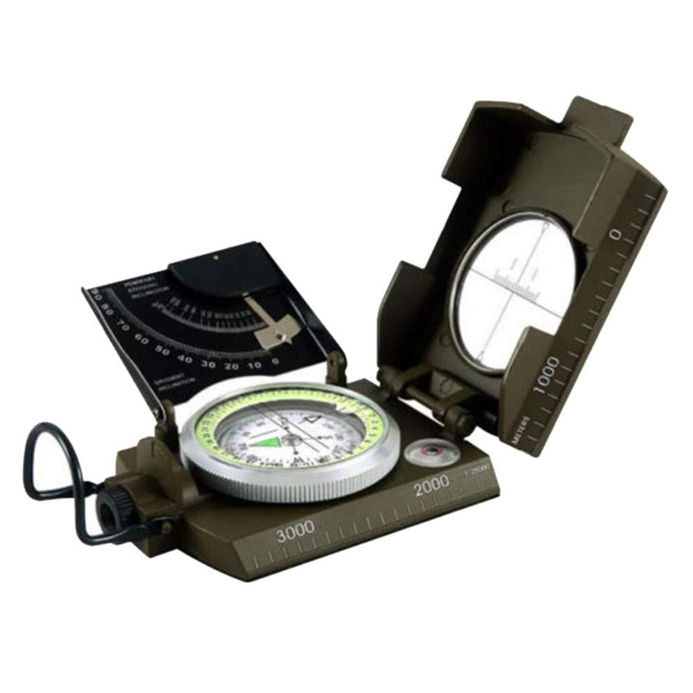 MSQL Sichtung Kompass Kartenmesser Entfernungsrechner, wasserdicht und stoßfest, zum Wandern, Camping, Fahren, Stiefelfahren, Wandern