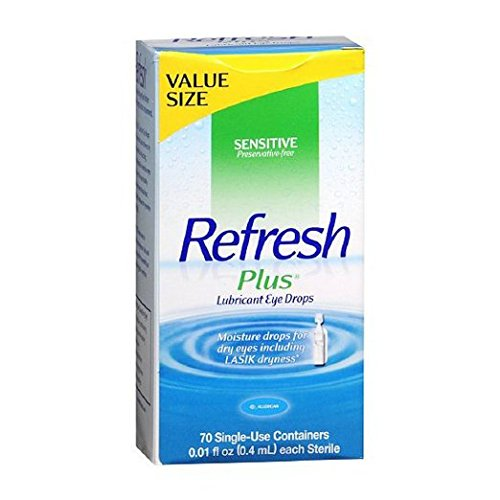 Refresh Plus Lubricant Eye Drops Single-Use Containers, 70 c