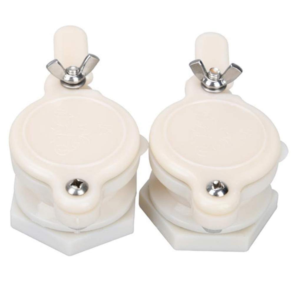 OUNONA 2 Pcs Nylon Honey Gate Valve Honey Extractor Tap Beekeeping Bottling Tool Bee Keeping Supplies Honey Tap Tool Beekeeper Equipment (White)