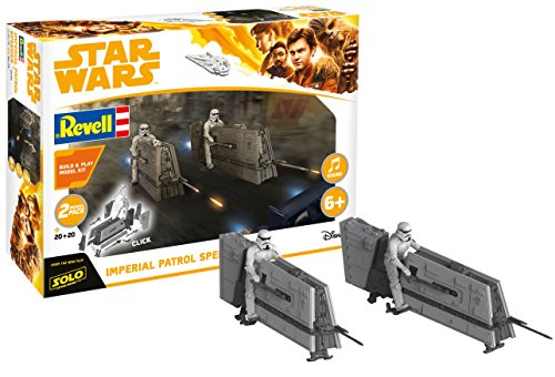 Revell Star Wars Solo Build & Play Model Kit 2-Pack with Sound 1/28 Imperial Patrol Spe