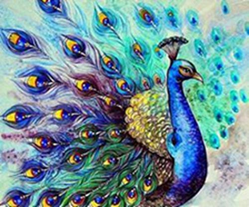 WestPole Full Drill 5D Diamond Painting, DIY Craft, Create Beautiful Gifts or Hang on Your Wall. Colorful and Sparkling Image. Finished Size is Around 12 x 16 in (30 x 40 cm)