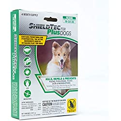 ShieldTec Flea and Tick Prevention for Dogs 4 Month(s) Protection (4 Dose, Medium)