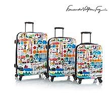 """Fernando by Heys - FVT Canada Multicolored 3 Piece Luggage Set 21"""", 26"""" & 30"""""""