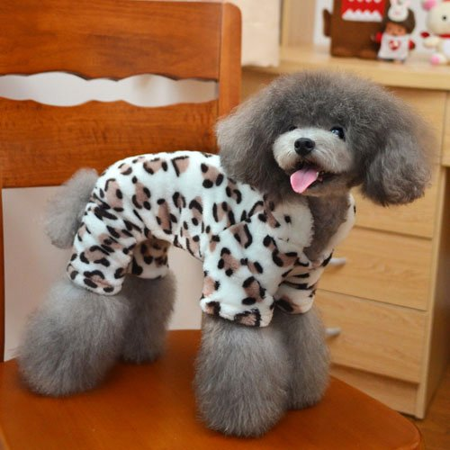 Pet Clothing Adorable Dog Fashion Brown Leopard Sweatshirt for Animals-Size XXL by Step