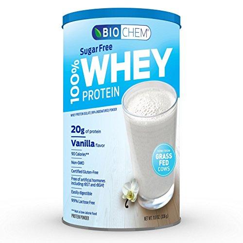 Biochem 100% Whey Sugar Free Protein, Vanilla, 11.8 Ounce