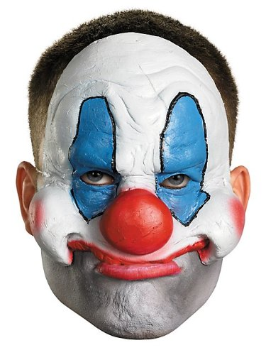 Disguise Costumes Chinless Evil Clown Vinyl Mask, Adult (Evil Doll Costume)