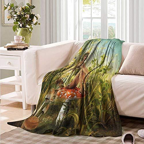 Oncegod Travel Blanket Kids Little Fairy Elf Wings Magic Super Soft Cozy 84