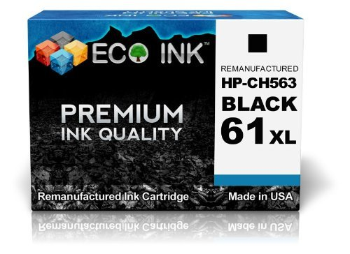ECO INK Compatible / Remanufactured for HP 61XL HP 61 XL CH563WN (1 Black) Ink Cartridges For Deskjet 1000, 2000 - J210a, 2050 - J510d, 3050 - J610a, 1050, 2000 - J210b, 2050 - J510e, 3050 - J610b, 1050 - J410c, 2000 - J210c, 3000, 3050 - J610c, 1050 - J4