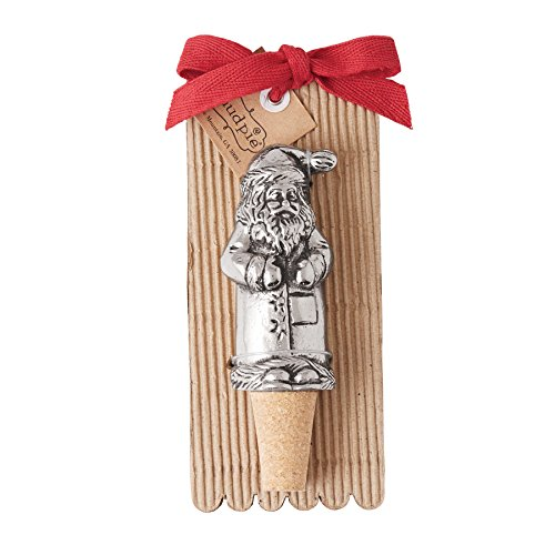 Mud Pie Holiday Christmas Old World Santa Wine Bottle Stopper