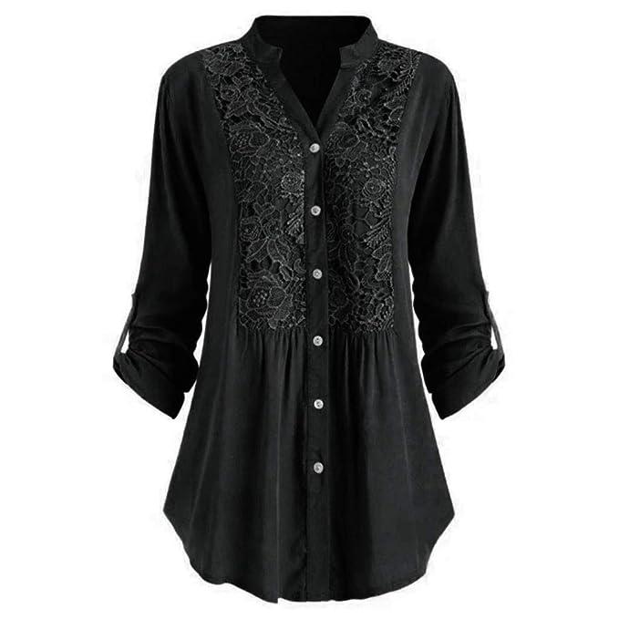 Amazon.com: Camisas para mujer con estampado irregular, sin ...