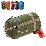 Ezyoutdoor Ultra light small Portable Envelope sleeping bag Spring autumn for Outdoor camping Travel Hiking Bivouac Picnic (green)