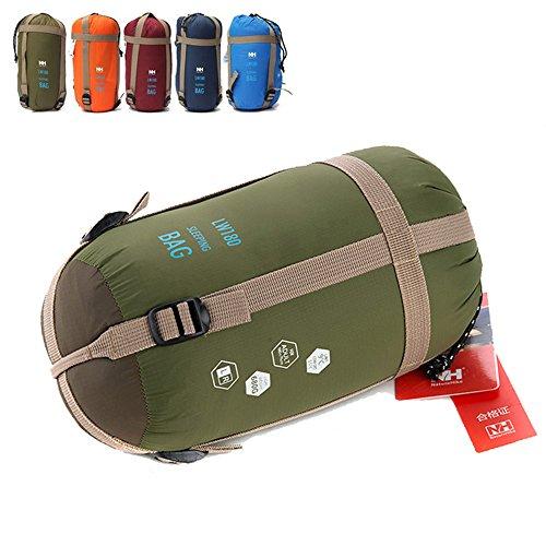 Ezyoutdoor Ultra light small Portable Envelope sleeping bag Spring autumn for Outdoor camping Travel Hiking Bivouac Picnic (green)]()