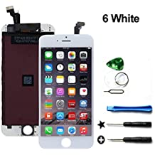 LCD Replacement Touch Screen & LCD Display for iPhone 6 4.7 inch with Free Tools kit (White)
