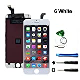 #5: YOU XIN LCD Replacement Touch Screen & LCD Display for iPhone 6 4.7 inch with Free Tools kit (White)