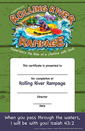 Vacation Bible School (VBS) 2018 Rolling River Rampage Student Certificates (Pkg of 48): Experience the Ride of a Lifetime with (Vbs Certificate)