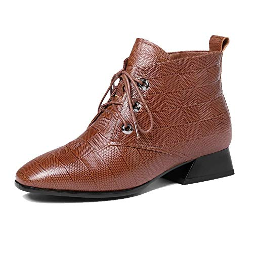 Bottes Zqzq Chaud pour dames Bottines Antidérapant Marron Élégant Leather rE6qzwxPE