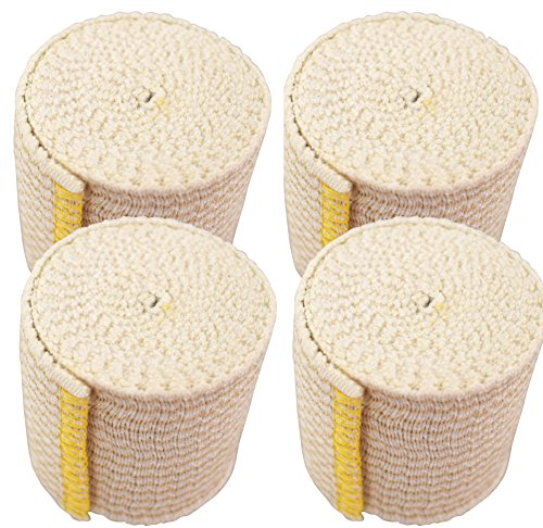 (GT Cotton Elastic Bandage w/Hook and Loop Closure on Both Ends, 2