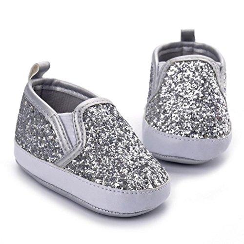 Chaussures de bébé,Fulltime® Bébés Garçons Berceau Soft Sole Sneakers anti-dérapant Sequins Chaussures