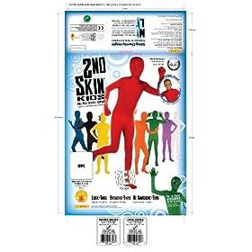 - 51Hs2euVEIL - Child's Red Second Skin Body Suit, Medium