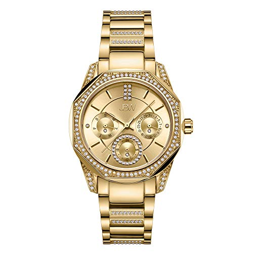 - JBW Luxury Women's Marquis J6369A 0.05 Karat Diamond Wrist Watch with Gold-Plated Stainless Steel Bracelet