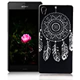 XiaoXiMi Sony Xperia M4 Aqua Case,Gel Rubber Silicone Cover for Sony Xperia M4 Aqua Soft Flexible Phone Skin Ultra Slim Smooth Shell Lightweight Protective Bumper Anti-Scratch Anti-Shock Case with Unique Design Pattern - Dream Catcher