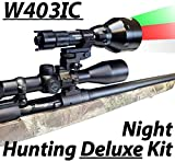 Cheap Wicked Lights W403IC Deluxe Night Hunting Kit with Green, Red, and White Intensity Control LED's for Predator, varmint & Hog Complete 3 led Light kit