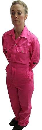 Rose Rose Salopette Bleu De Travail Pour Hommefemme Taille Xxs