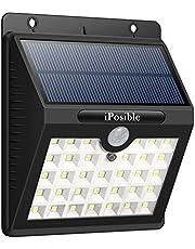 iPosible 【2 Pezzi Luce Solare con Sensore di Movimento, 【3 Modalità-1200mAh】 33 LED Lampada Solare LED Esterno Impermeabile Luci Solari da Parete Wireless Lampade Solari per Giardino,Patio