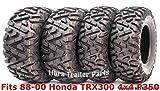 #8: Set 4 WANDA ATV tires 23x8-11 & 24x9-11 for 88-00 Honda TRX300 4x4 P350