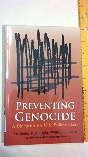 Book cover from Preventing Genocide: A Blueprint for U.S. Policymakers by Madeleine K. Albright